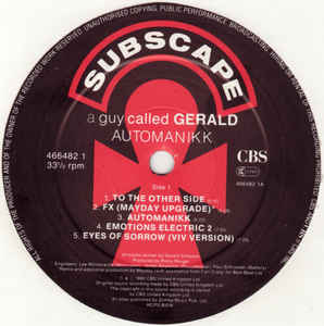 A Guy Called Gerald (Derrick May rmxs) - Automanikk / Voodoo Ray